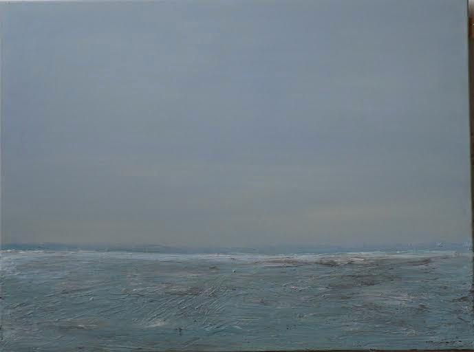 Fenny van de Wal: Landschap - olieverf op doek