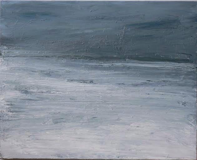 Fenny van de Wal: Sneeuwlandschap - olieverf op doek
