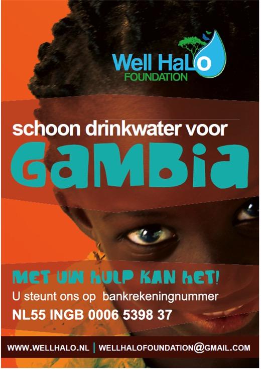WellHaLo schoon drinkwater voor Gambia Poster