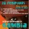 Poster voor het benefiet concert in QBus, 28-02-2015